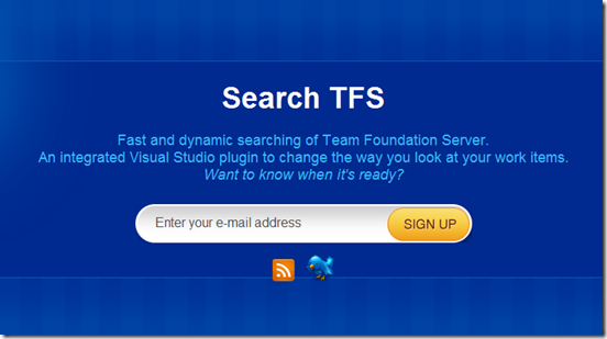 Search TFS landing page