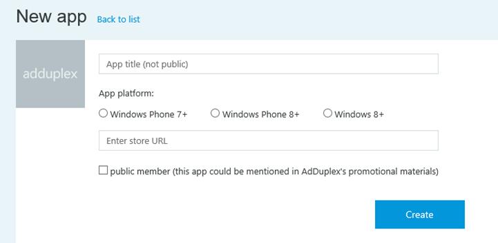 AdDuplex New app